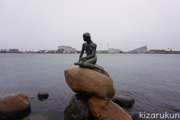 コペンハーゲン1日観光で行った人魚姫像