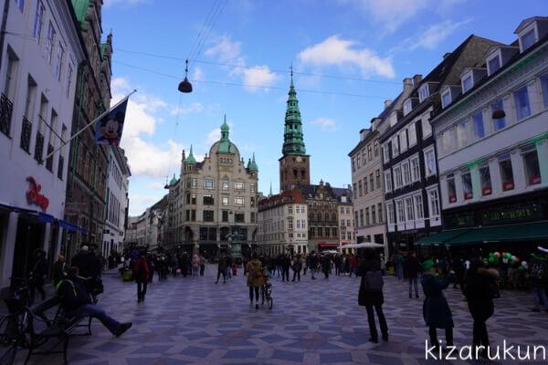 コペンハーゲン1日観光で行った世界で最初の歩行者天国ストロイエ