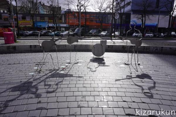 ハンブルク・レーパーバーンにあるビートルズ広場の記念碑・オブジェ・モニュメント