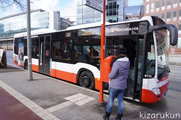 ハンブルク半日観光で乗ったバス