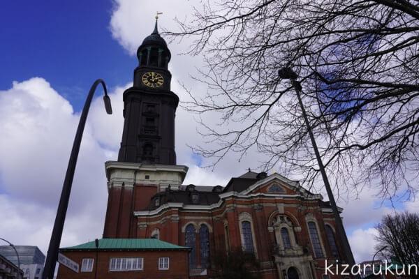ハンブルク半日観光で行った聖ミヒャエル教会