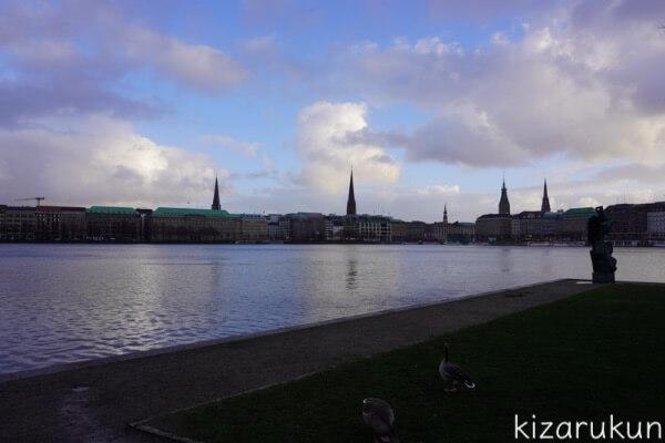 ハンブルク半日観光で行った内アルスター湖