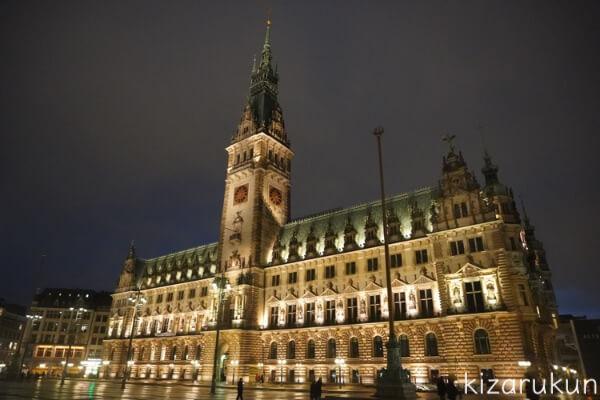 ハンブルク半日観光で行ったハンブルク市庁舎
