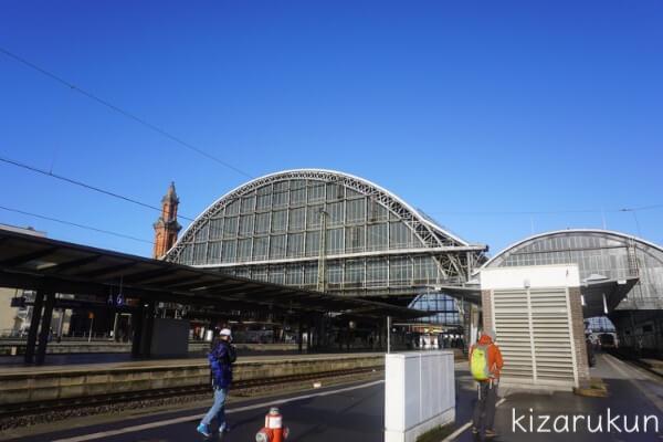 ブレーメン半日観光で行ったブレーメン中央駅のプラットホーム