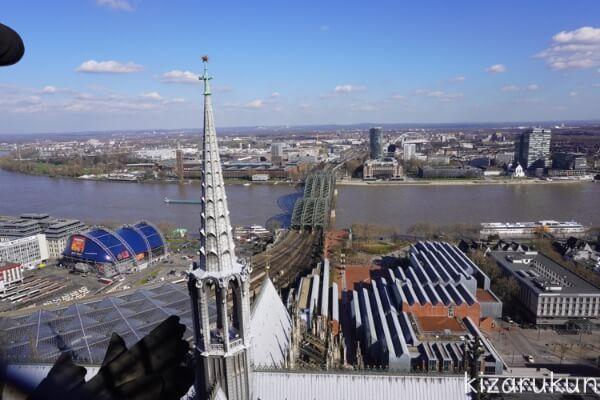 ケルン半日観光で行ったケルン大聖堂の展望台からの眺め