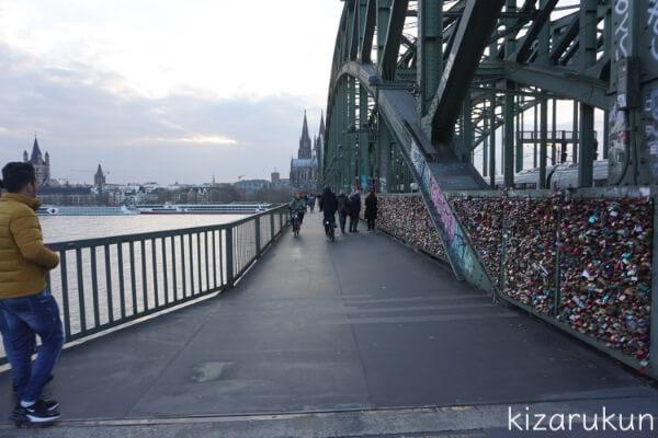 ケルン半日観光で行ったホーエンツォレルン橋