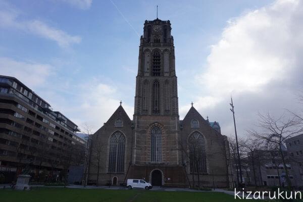 ロッテルダム半日観光で行った聖ローレンス教会
