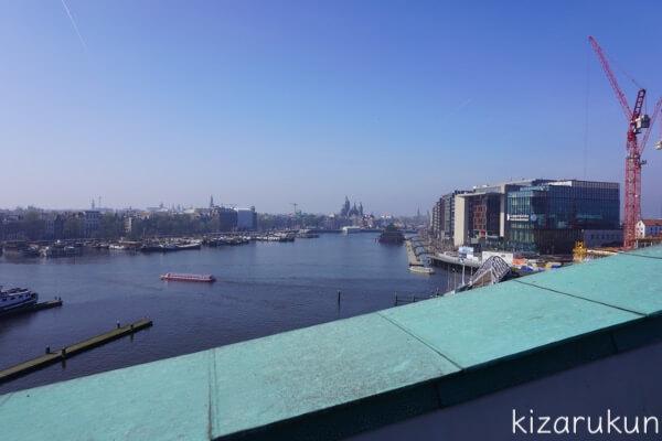 アムステルダム1日観光で行った科学博物館からの眺め