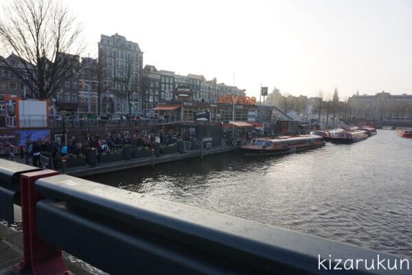 アムステルダム1日観光で行った運河ツアーの行列