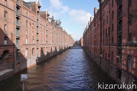 ハンブルク半日観光で散歩した倉庫街