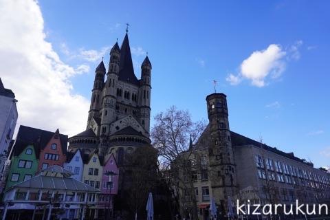 ケルン半日観光で徒歩で巡ったケルン旧市街:ケルン旧市庁舎・聖マルティン教会等
