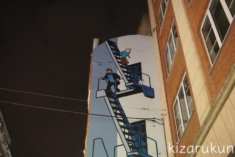 ブリュッセル半日観光で巡ったタンタン関連スポット:グランプラスから小便小僧までのストリートの壁画