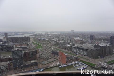 ロッテルダム半日観光でトラムで行ったユーロマストの展望台