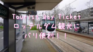 ロッテルダム半日観光で買った公共交通機関フリーパスのTourist Day Ticket(ツーリスト1日券)の券売機