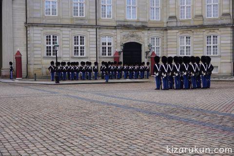 アマリエンボー宮殿衛兵交代式